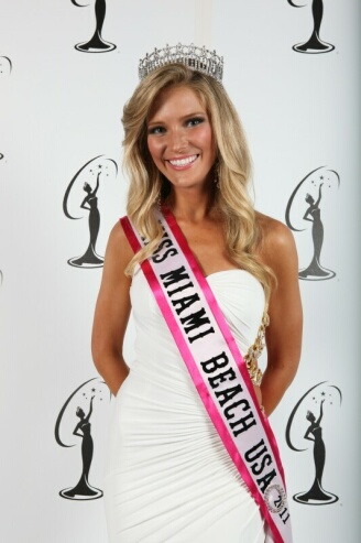 Annilie Hastey is crowned Miss Miami Beach