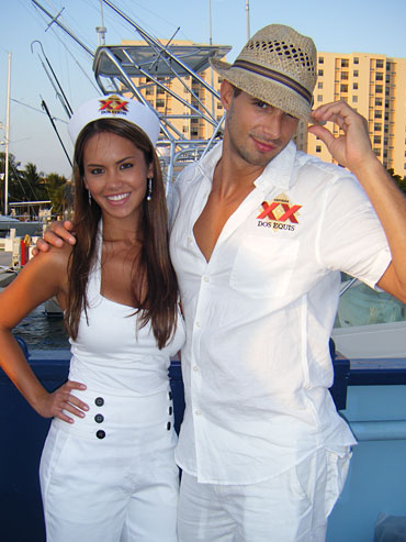 Bianca & Chris help host the Ocean Drive Magazine and Dos Equis send off party for Mothership Ocean